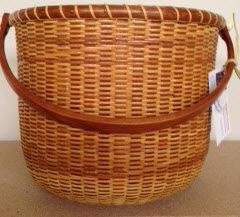 "10"" traditional Nantucket cherry stave rim base and handle 20 dia 9"" height. $350"